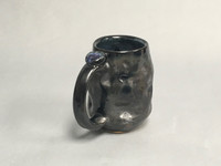 Meteor Mug with a Blue Nebula Interior, roughly 14-16 ounce size, (SK381)