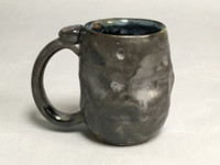 Meteor Mug with a Blue Nebula Interior, roughly 12-14 ounce size, (SK535)
