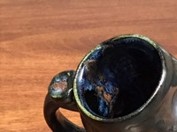 Meteor Mug with a Blue Nebula Interior, roughly 12-14 ounce size, (SK842)