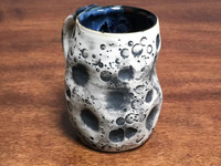 "Lunar/Moon Mug, roughly 11-13 ounces, Inspired by 'Planetary Nebula""  (SK1347)"