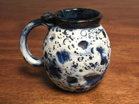 Blue Moon Mug with a Blue Nebula Interior, roughly 15-17oz size, (SK1559)
