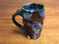 Narrow Cosmic Mug, roughly 14-16 oz size, Inspired by a Planetary Nebula (SK2258)