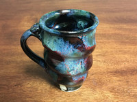 Narrow Spiral Cosmic Mug, roughly 14-16oz size, Inspired by a Star-Formation Nebula (SK3082)