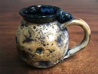 """Harvest Moon Mug"" with a Blue Nebula Interior, roughly 12-14oz size, (SK3090)"
