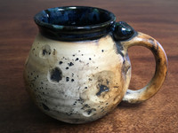 """Harvest Moon Mug"" with a Blue Nebula Interior, roughly 14-16oz size, (SK3091)"