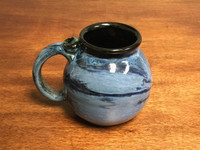 Neptune Mug with a Blue Nebula Interior, roughly 16-18oz size, (SK3095)