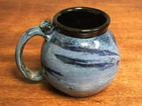 Neptune Mug with a Blue Nebula Interior, roughly 16-18oz size, (SK3097)