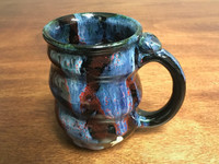 Cosmic Mug, roughly 16-18 oz size, Inspired by a Planetary Nebula (SK3199)