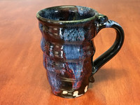 Tapered Cosmic Mug, roughly 16-18oz size, Inspired by a Planetary Nebula (SK3934)