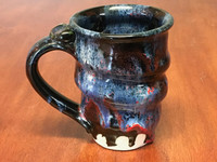 Tapered Cosmic Mug, roughly 16-18oz size, Inspired by a Planetary Nebula (SK3936)