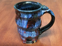 Tapered Cosmic Mug, roughly 14-16oz size, Inspired by a Planetary Nebula (SK3978)