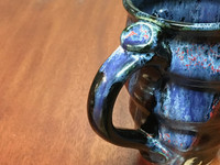 Tapered Cosmic Mug, roughly 16-18oz size, Inspired by a Planetary Nebula (SK3979)
