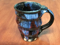 Tapered Cosmic Mug, roughly 14-16oz size, Inspired by a Planetary Nebula (SK3980)