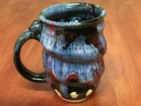 Spiral Cosmic Mug, roughly 16-18oz size, Inspired by a Planetary Nebula (SK3984)