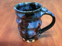 Tapered Cosmic Mug, roughly 16-18oz size, Inspired by a Planetary Nebula (SK3992)