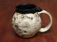 "PATRONS ONLY: ""Moon Mug"" with a Nebula Interior, roughly 16oz size, (SK4079)"