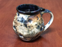 "Very Small ""Moon Mug"" with a Blue Nebula Interior, roughly 10-12oz size, (SK4201)"