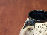 "PATRONS ONLY: ""Moon Mug"" with a Nebula Interior, roughly 14-16oz size, (SK4249)"