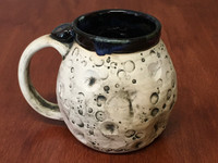 "PATRONS ONLY: ""Moon Mug"" with a Nebula Interior, roughly 14-16oz size, (SK4250)"