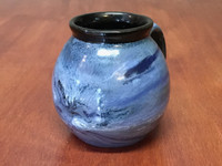 Neptune Mug with a Blue Nebula Interior, roughly 16-18oz size, (SK4334)