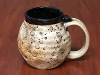 """PATRONS ONLY: """"Moon Mug"""" with a Blue Nebula Interior, roughly 14-16oz size, (SK4361)"""