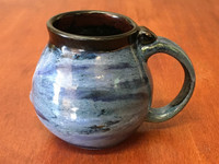 Neptune Mug with a Blue Nebula Interior, roughly 16-18oz size, (SK4478)