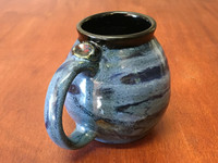PATRONS ONLY: Neptune Mug with a Blue Nebula Interior, roughly 16-18oz size, (SK4479)