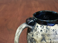 """Moon Mug"" with a Blue Nebula Interior, roughly 12-14oz size, (SK4593)"