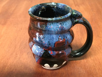 Spiral Cosmic Mug, roughly 12-14oz size, Inspired by a Planetary Nebula (SK4881)