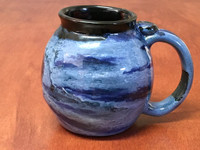 Neptune Mug with a Blue Nebula Interior, roughly 14-16oz size, (SK5102)