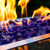 Medium view of purple blue Crushed Fire Glass