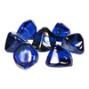 Pieces of Cobalt Blue Fire Glass Diamonds
