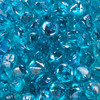 Celestial fire glass diamonds in high luster tropical blue.