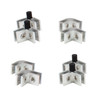 8 Pack of Flame Guard Corner Glass Connectors with Rubber Feet