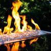 "Tempered Fire Glass - 1/4"" Platinum Moonlight Reflective"