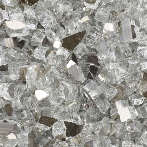 1/2 inch Diamond Starlight Reflective Tempered Fire Glass