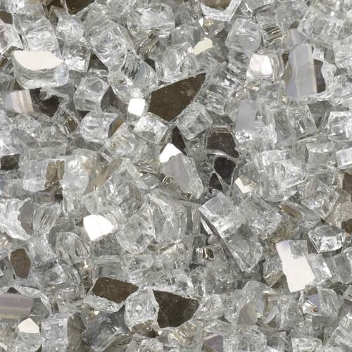 1/2 inch Diamond Starlight Reflective Tempered Fire Glass