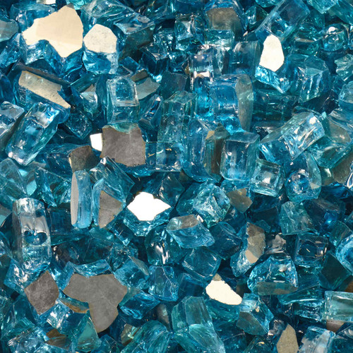 """Tempered Fire Glass - 1/2"""" Rigel Blue Reflective"""