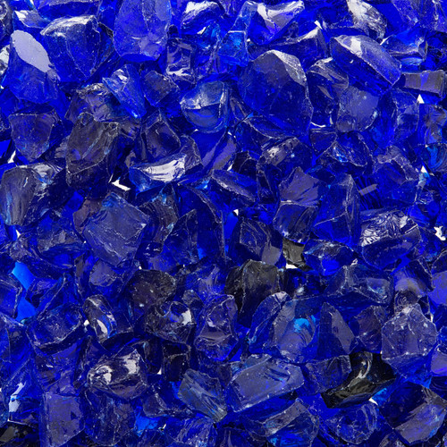 Ocean Blue Crushed Fire Glass