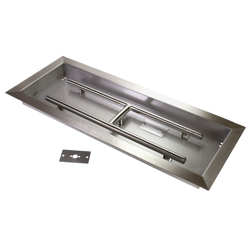 "24""x8"" Drop-In Fire Pit Pan"