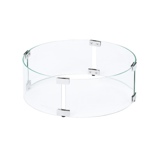 """Tempered Glass Flame Guard for 13"""" Round Fire Pit"""