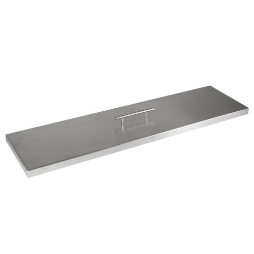 """Fire Pit Cover for 30""""x6"""" Linear Burner Pan, Stainless Steel"""