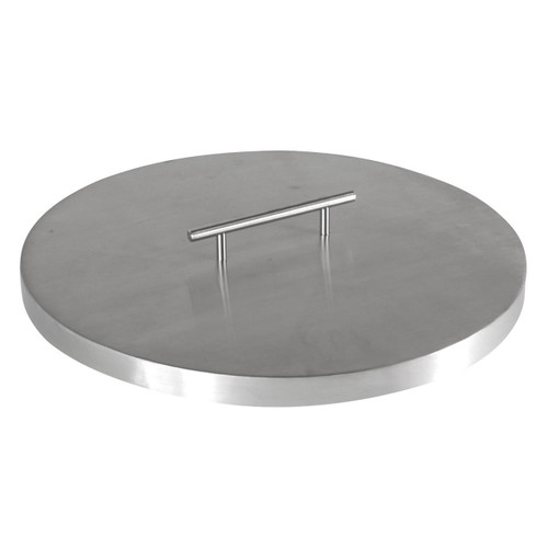 "Fire Pit Cover for 13"" Round Burner Pan, Stainless Steel"