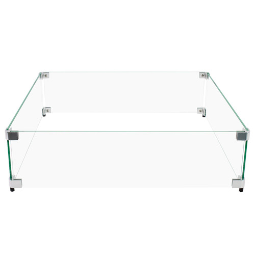 """18"""" Square Flame Guard for Fire Pit Wind Protection"""