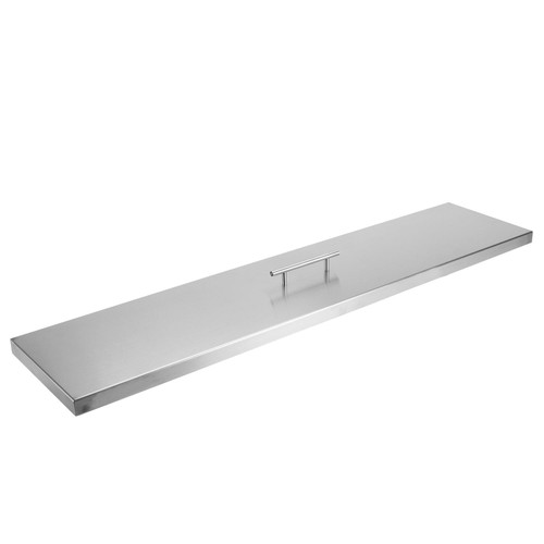 """Fire Pit Cover for 36"""" x 6"""" Linear Burner Pan, Stainless Steel"""