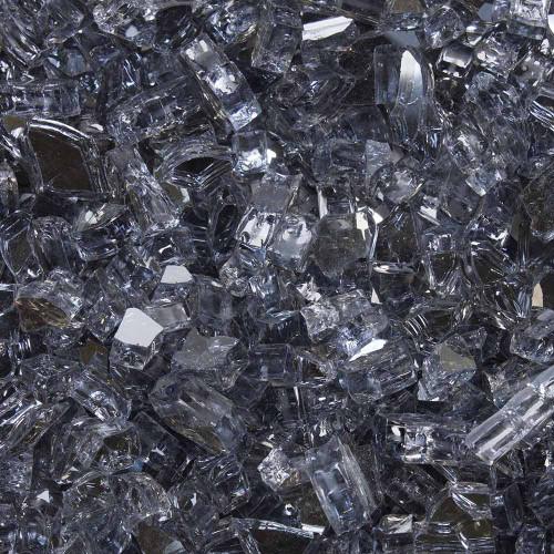 "Tempered Fire Glass - 1/4"" Interstellar Gray Reflective"