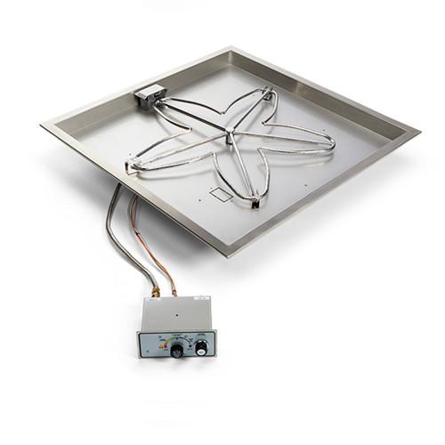 """HPC Fire 18"""" Square Fire Pit Burner Pan"""
