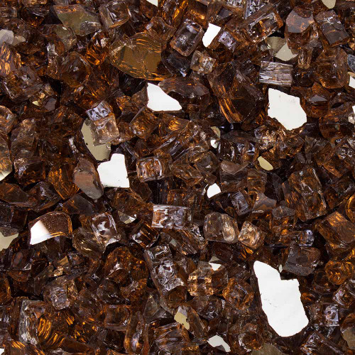 """Tempered Fire Glass - 1/2"""" Cosmic Copper Reflective"""