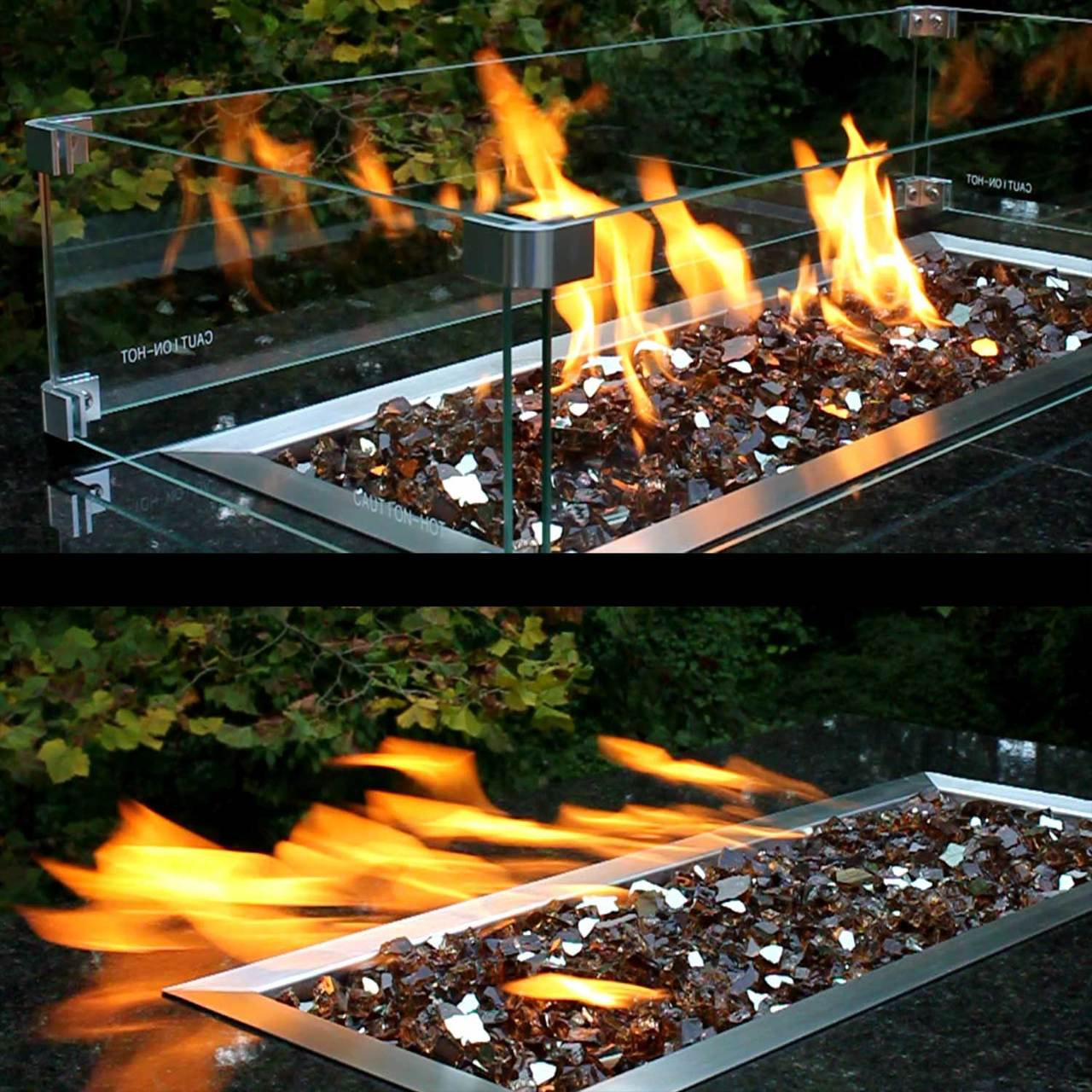 Fire Pit Flame Guard For 18 X 18 Burner Pan
