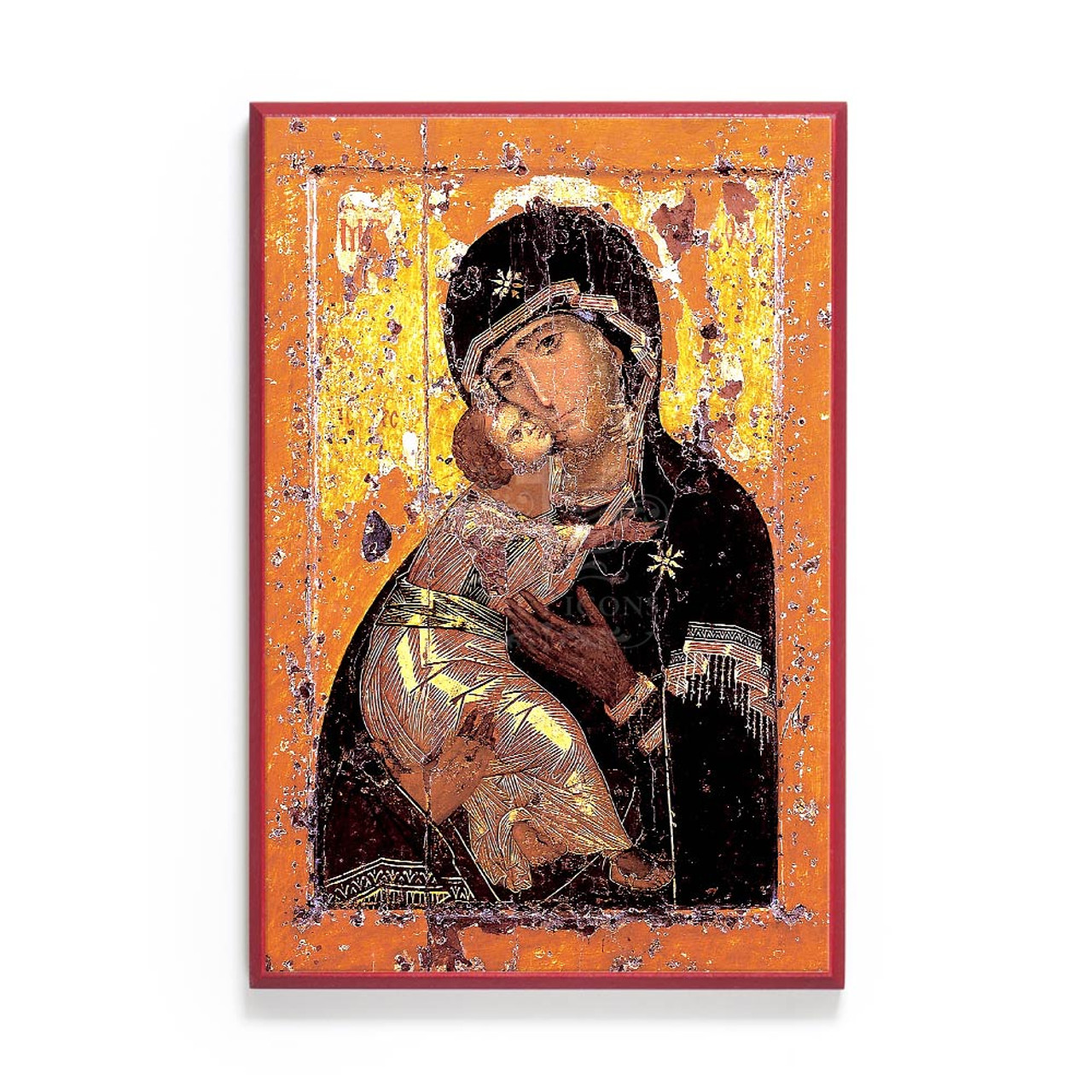 Icon Egg Mary of Vladimir Constantinople Theotokos Orthodox Russian wooden GIFT